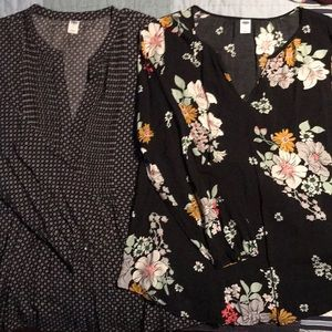 Lot of two old navy dress tops